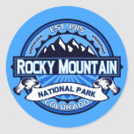 Logotipo del Parque Nacional de las Montañas Pegatina Redonda