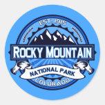 Logotipo del Parque Nacional de las Montañas Rocos Pegatinas Redondas