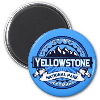 Logotipo del parque nacional de Yellowstone Imán Redondo 5 Cm
