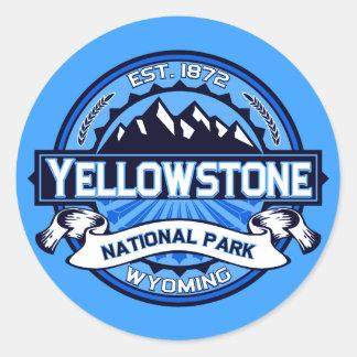 Logotipo del parque nacional de Yellowstone Pegatina Redonda