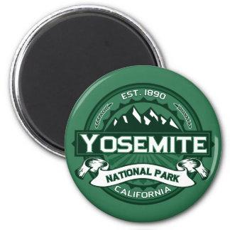Logotipo del parque nacional de Yosemite Imán Redondo 5 Cm
