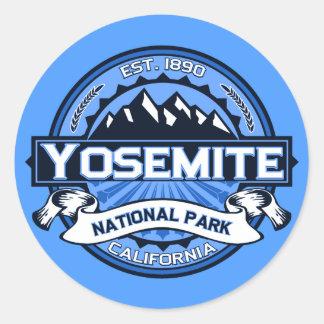 Logotipo del parque nacional de Yosemite Pegatina Redonda