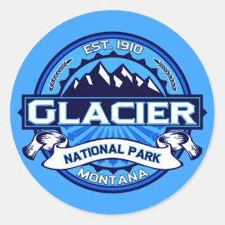 Logotipo del Parque Nacional Glacier Pegatina Redonda
