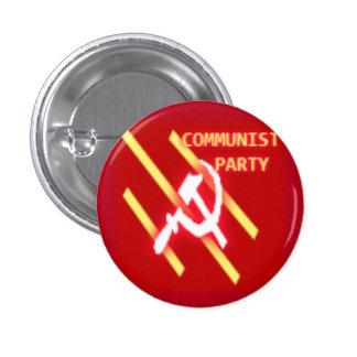 Logotipo del Partido Comunista Pin Redondo 2,5 Cm