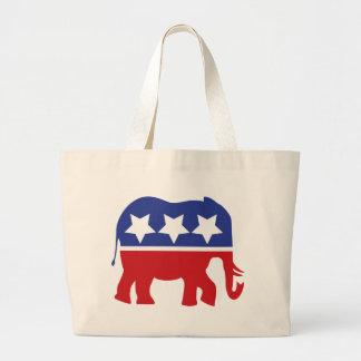 ¡Logotipo del Partido Republicano - actualizado! Bolsa De Tela Grande
