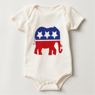 ¡Logotipo del Partido Republicano - actualizado! Trajes De Bebé