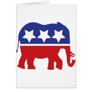 ¡Logotipo del Partido Republicano - actualizado! Tarjeta De Felicitación