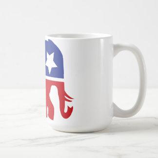 ¡Logotipo del Partido Republicano - actualizado! Taza Básica Blanca