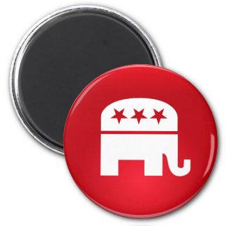Logotipo del Partido Republicano Imán Redondo 5 Cm