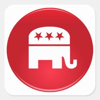 Logotipo del Partido Republicano Pegatina Cuadradas