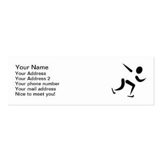 Logotipo del patinaje de velocidad tarjeta de visita