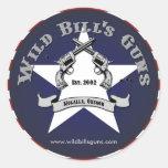 Logotipo del patriota de los armas de Bill salvaje Etiqueta Redonda