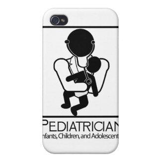 LOGOTIPO del pediatra - doctor a los niños, niños iPhone 4 Protector