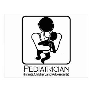 LOGOTIPO del pediatra - doctor a los niños, niños Tarjeta Postal