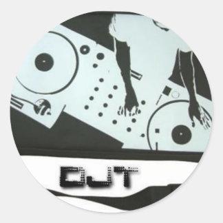 Logotipo del pegatina de DjT