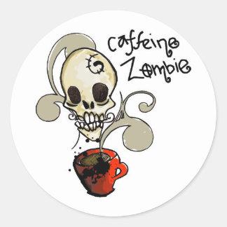 Logotipo del pegatina del zombi