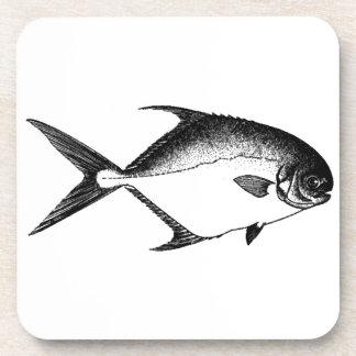 Logotipo del permiso (línea arte) posavaso