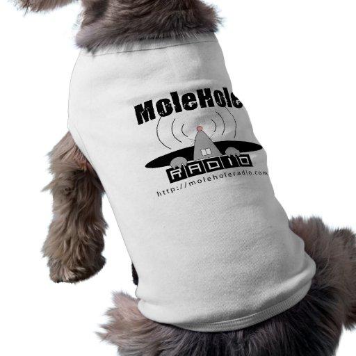 logotipo del perrito playera sin mangas para perro