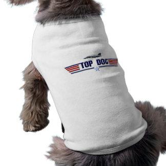 Logotipo del perro superior camiseta de mascota
