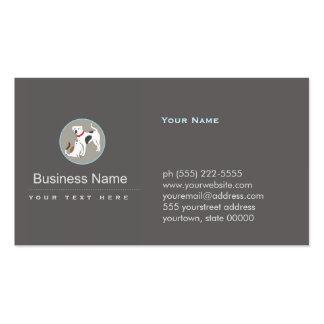 Logotipo del perro y del gato del cuidado de tarjetas de visita