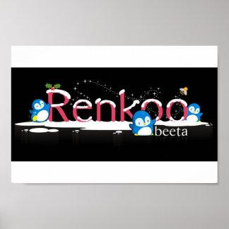 Logotipo del pingüino de Renkoo Póster