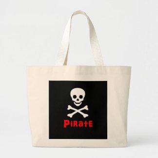 Logotipo del pirata bolsas de mano