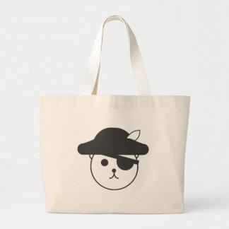 Logotipo del pirata de Teddybear Bolsa Tela Grande