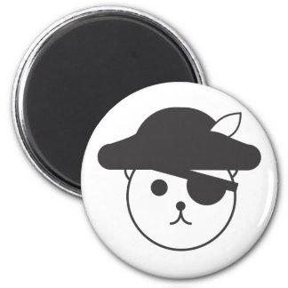 Logotipo del pirata de Teddybear Imán Redondo 5 Cm