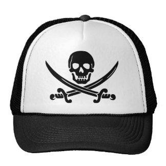 Logotipo del pirata gorro de camionero