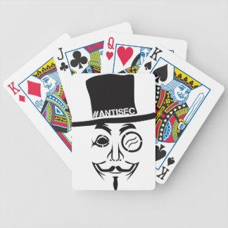 Logotipo del pirata informático de AntiSec AntiSec Cartas De Juego
