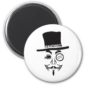 Logotipo del pirata informático de AntiSec AntiSec Imán Redondo 5 Cm