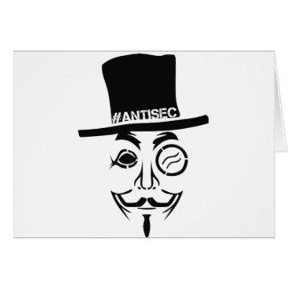 Logotipo del pirata informático de AntiSec AntiSec Tarjeta De Felicitación