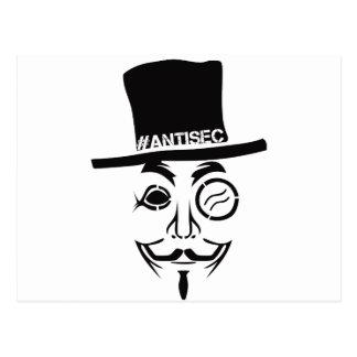 Logotipo del pirata informático de AntiSec Postales