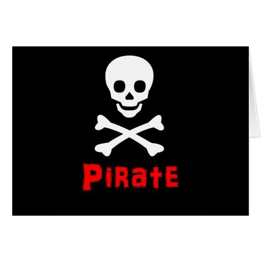 Logotipo del pirata tarjeta