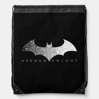 Logotipo del pixel del caballero de Batman Arkham Mochila