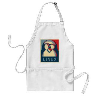 Logotipo del poster de obama del pingüino del tux delantal