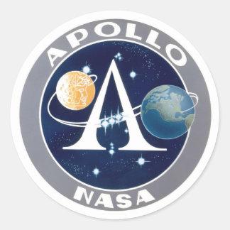 Logotipo del programa Apollo Etiquetas Redondas