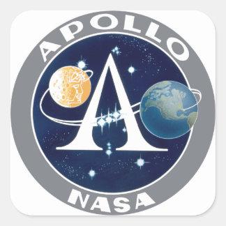 Logotipo del programa Apollo Pegatina Cuadrada