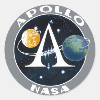 Logotipo del programa Apollo Pegatina Redonda