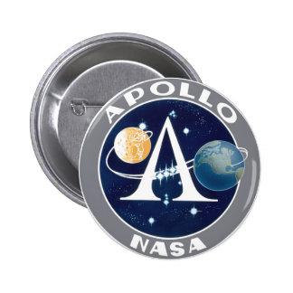 Logotipo del programa Apollo Pin Redondo 5 Cm