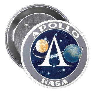 Logotipo del programa Apollo Pin Redondo 7 Cm