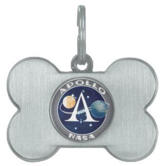 Logotipo del programa Apollo Placas De Nombre De Mascota