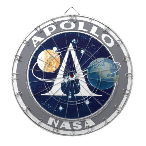Logotipo del programa Apollo Tablero Dardos
