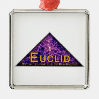 Logotipo del programa de Euclid Adorno Cuadrado Plateado