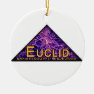 Logotipo del programa de Euclid Adorno Redondo De Cerámica