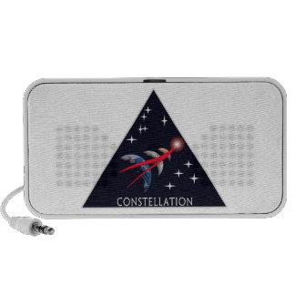 Logotipo del programa de la constelación altavoces de viajar