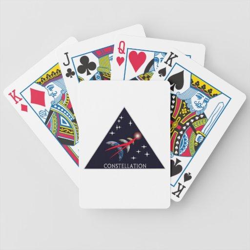 Logotipo del programa de la constelación barajas de cartas
