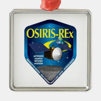 Logotipo del programa de OSIRIS REx Adorno Navideño Cuadrado De Metal