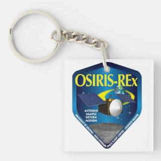 Logotipo del programa de OSIRIS REx Llavero Cuadrado Acrílico A Una Cara