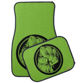 Logotipo del puño del armatoste de los vengadores alfombrilla de auto
